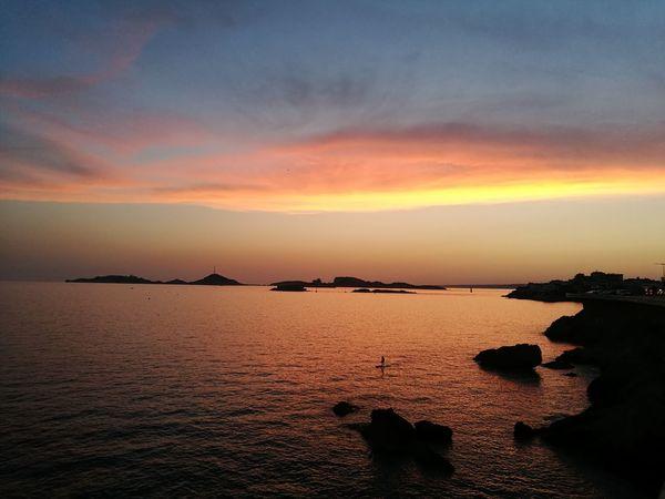 Water Sea Low Tide Sunset Beach Wave Astronomy Reflection Rock - Object Sunlight