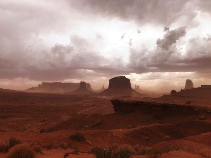Wind Sandstorm Monument Valley,Utah USA Cloud - Sky Sky Landscape Scenics - Nature Environment Beauty In Nature Tranquil Scene Nature Desert My Best Photo
