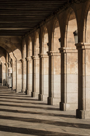 Plaza Major in Salamanca ©alexander h. schulz Architecture Castilla Y León City Lantern Plaza Major Salamanca Travel Arcade Arch Architecture Bar Built Structure Cafe Chairs Colonades Day Downtown District Famous Place History No People Outdoors Placa Major Travel Destinations