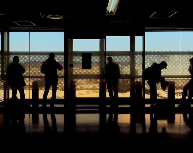 Silhouette Window Airport Departure Area Airport Transportation Standing Arrival Airport Runway Mobilephotography Eyem Best Shots Building Exterior