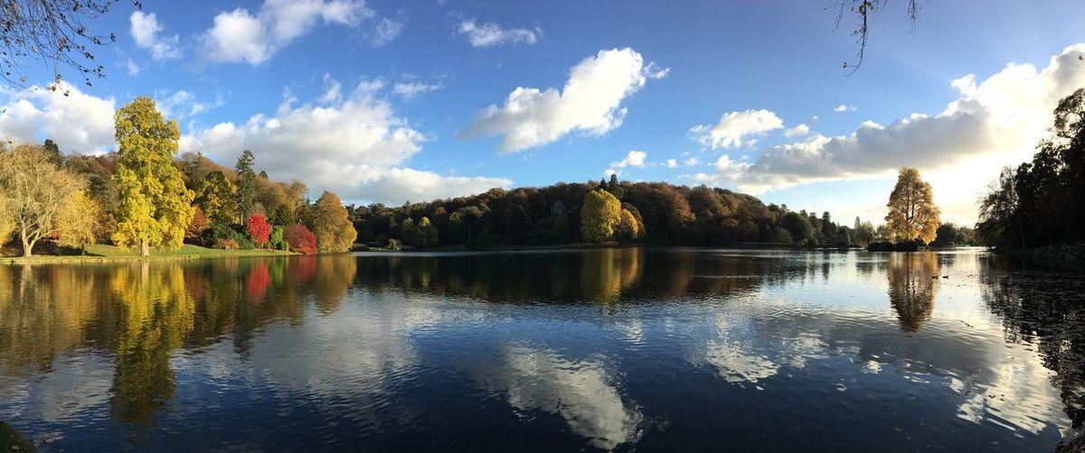 Panoramic view of lake