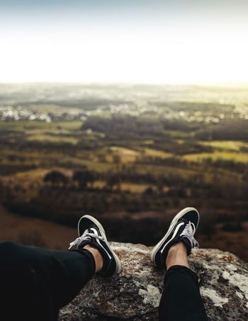 Personal Perspective Real People Shoe Landscape Mountain Nature Adventure Lifestyles Outdoors