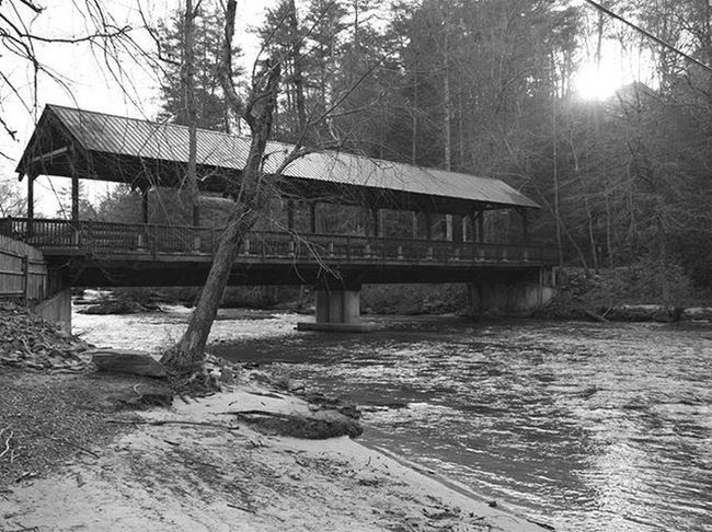 One of the entrances to Blackberry Mountain, is this beautiful covered bridge. It also provides a footpath on either side, which allows a perfect view of the falls (on the north side) as the CartecayRiver cascades down the mountain. River CoveredBridge Instagram Northgeorgia Current_challenges Blackberrymountain Waterfall Beach Bw_divine Blackandwhite Blackandwhitephotography Hidden Gems Georgia Lifeintheclouds Inspiredbyadventure Wandernorthga Adventureheroes Amazingearthofficial Optoutside Shutterbug_collective Yourshot Universalviews