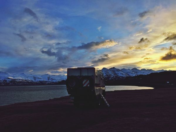 Nice Place Goodnight By The Sea Sunset Iceland_collection Iceland116 Camper