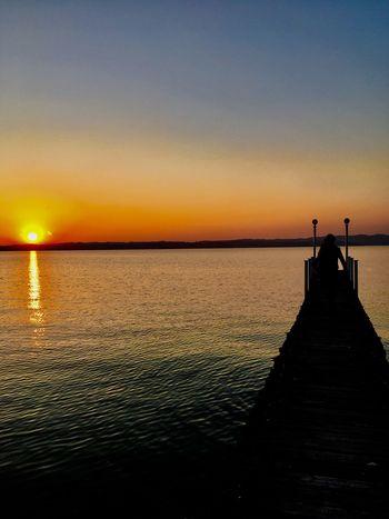 Sunset Lake View Wonderful Day
