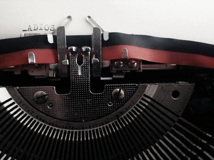 Typewriter Old-fashioned Retro Styled Close-up No People Ink Manufacturing Equipment Day Indoors
