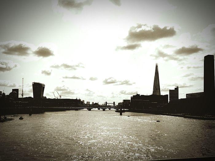 London River Thames Blackfriars Blackandwhite Morning Sunrise