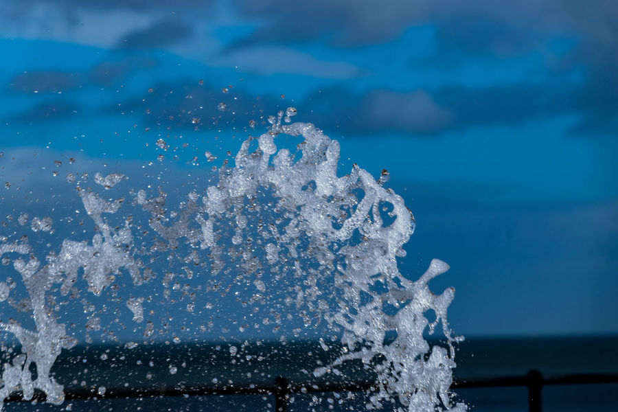 Exceptional Photographs EyeEm Best Shots EyeEm Masterclass Fountain Beauty In Nature Blue Close-up Day Horizon Over Water Iceberg Motion Nature No People Outdoors Power In Nature Scenics Sea Sky Splashing Water Water Jet Waterfront Wave