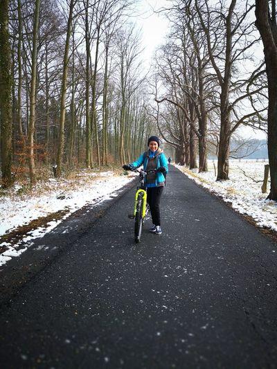 Biking on Waldau Peace Solitude Winter Snow Snow ❄ Forestwalk Alone Alone Time 2018 Thinking Independence Wonderful White Independenceisalifestyle Happy Happy :) Bike Biking
