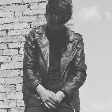 Sky Young Men Adult Young Adult One Young Man Only First Eyeem Photo Lifestyles Portrait Leather Jacket Blackoutfit EyeEmNewHere