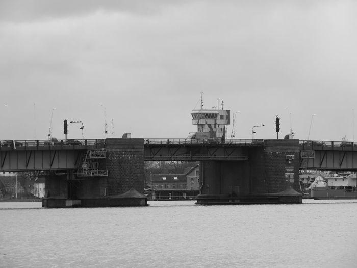 Blackandwhite Bridge - Man Made Structure Water City Sky Architecture