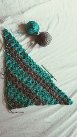 My project today. A teal and gray corner to corner blanket! Check This Out My Crochet Creations Crochetlove