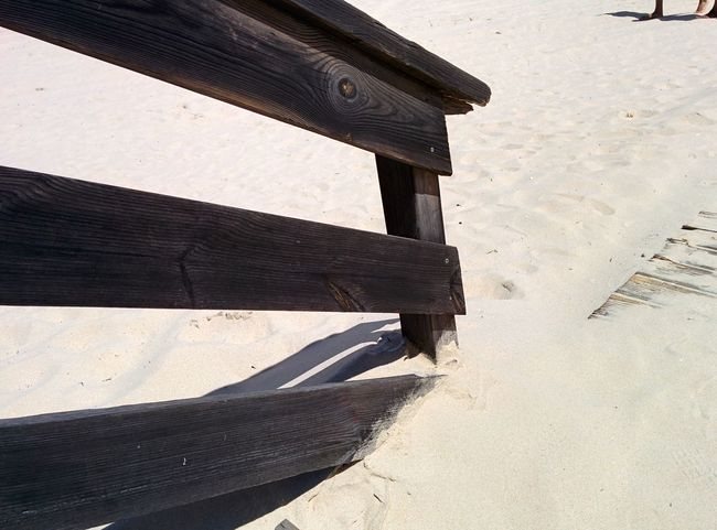 Architecture Beach Built Structure Close-up Day High Angle View No People Outdoors Sand Shadow Sunlight Wood - Material