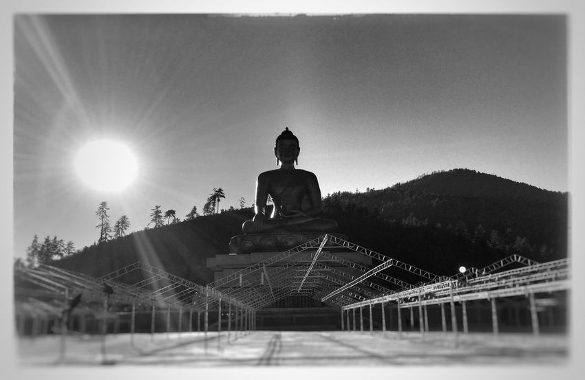 Buddha point Travel Photography Travel Travel Destinations Bhutan Buddhist Temple Buddhism Buddha Shanti EyeEmNewHere Statue Sculpture History Sky An Eye For Travel Built Structure Outdoors Day Clear Sky