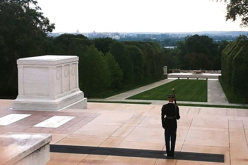 Politics And Government One Person People Adult One Man Only Adults Only Standing Politics Full Length Day Tree Only Men Outdoors Sky Historical Historical Monuments History Tomb Of The Unknown Soldier The Week On EyeEm EyeEmNewHere Arlington National Cemetary Military Military Uniform