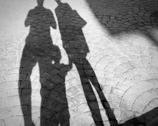 Family Shadow Sunlight Leisure Activity People Stone Pavement Strolling Went For A Walk Focus On Shadow Outdoors