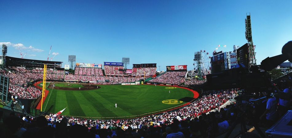 Watching Japan professional baseball game. Rakuten Eagles × ORIX Crowd Baseball - Sport Stadium Sport Large Group Of People Fan - Enthusiast People Outdoors Day Sky Enjoying Life Taking Photos Buffaloes😁