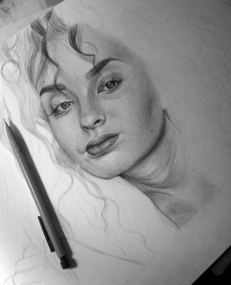 🐯 Ella Eyre Portrait ArtWork Pencil Drawing Blackandwhite Drawing Like4like Work In Progress Art Fanart Feline