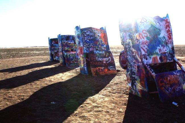 Early mornings Cadillac Ranch Amarillo, TX Texas Graffiti Colour