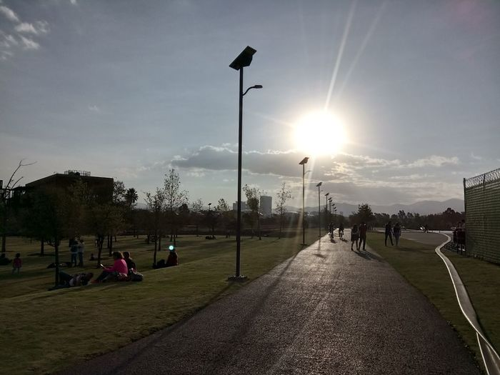 Parque Bicentenario Park Parque  Cdmx Aire Aire Libre Caminando Grass Sky Only Men Tree Day Shades Of Winter