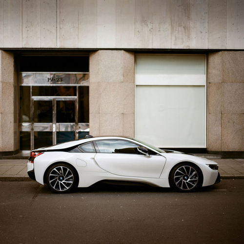 Cars Film Futuristic Modern Modern Architecture Old School Architecture Balance Building Exterior Built Structure Car Clean Crash Day Exotic Cars Film Photography Land Vehicle Luxury No People Outdoors Street Street Photography Supercar Symmetry Transportation