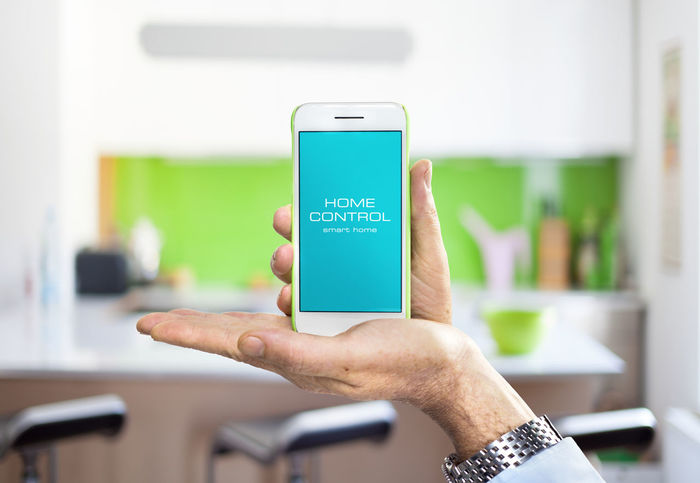 App Hand Mobile Smart Home Smart House Smart Phone