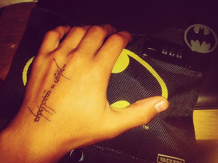 Locked outside Human Hand First Eyeem Photo Tengwar Tattoo Check This Out Capture The Moment Love