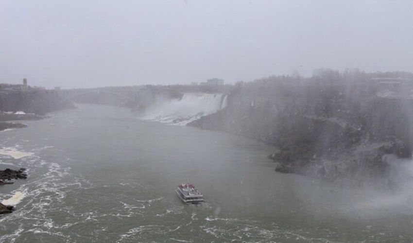 River in foggy weather