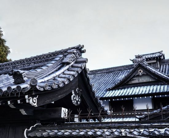 intricate roof details of a samurai house. Japan Hokkaido Hokkaido Japan Samurai Village Architecture Nature Winter Spring Snow Outdoors Roof Tradition Travel Destinations Built Structure Day