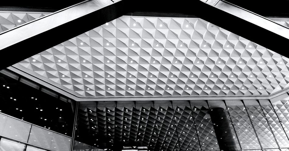 reflections Torre Bancomer Bank Building CDMX ❤ Pattern Ceiling Architecture Close-up Built Structure Architectural Design LINE Geometric Shape Architectural Detail Skylight