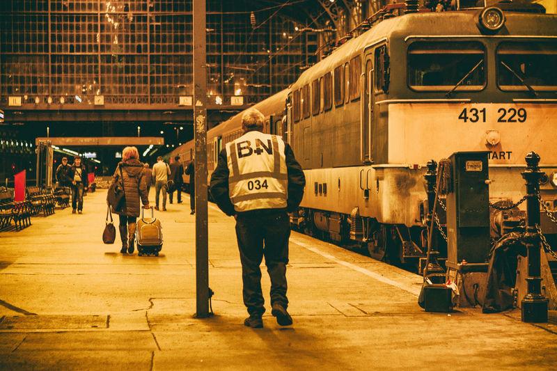 Caretaker City Life Distance Envy Jealous Journey Lifestyles Passenger Train Railroad Station Platform Real People Trackss Train Train - Vehicle Train Station Transportation Travel Trip