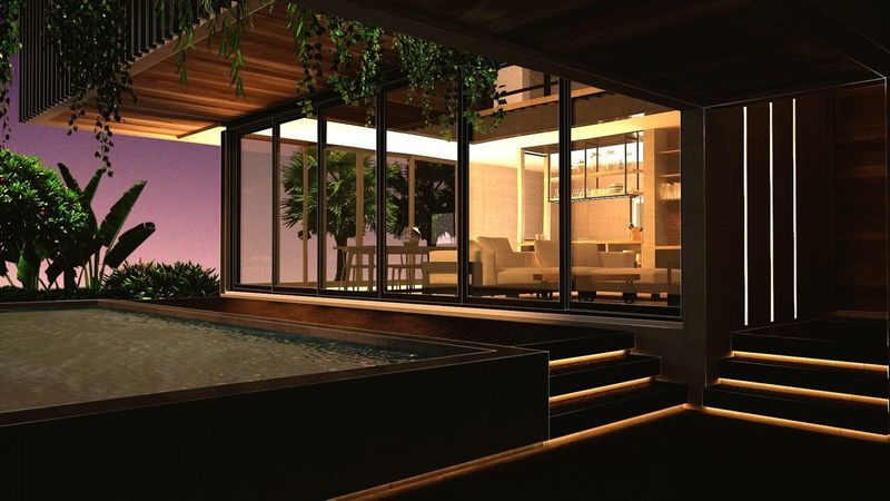 Luxury Architecture Built Structure Modern Sunset Hotel Tree Railing City Entrance Hotel Reception No People Entrance Hall Indoors  Day Interior Design 3drender Interior Vray Photoshop House Home Interior Modern Architecture Lighting Equipment