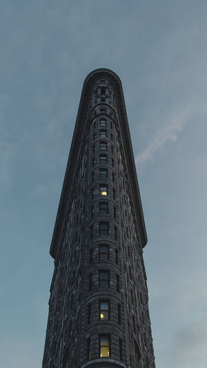 Flatiron Building Architecture Building Exterior Built Structure City Day Low Angle View Minimal Modern No People Outdoors Sky Skyscraper Tall - High Tower