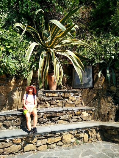 Me & big plant in Cinque Terre italy Waterfall Trekking Nature Photography Enjoying Life Cool Pic Relaxing Hot Day ☀ Summer Trip July 2018 Family Time Graduation Trip Family Is Forever ❤ Love My Family ❤ Tree Palm Tree Full Length Standing Young Women Shadow Walking Women Residential Structure Retaining Wall Human Settlement Walkway Narrow Growing Exterior Building Summer In The City #urbanana: The Urban Playground