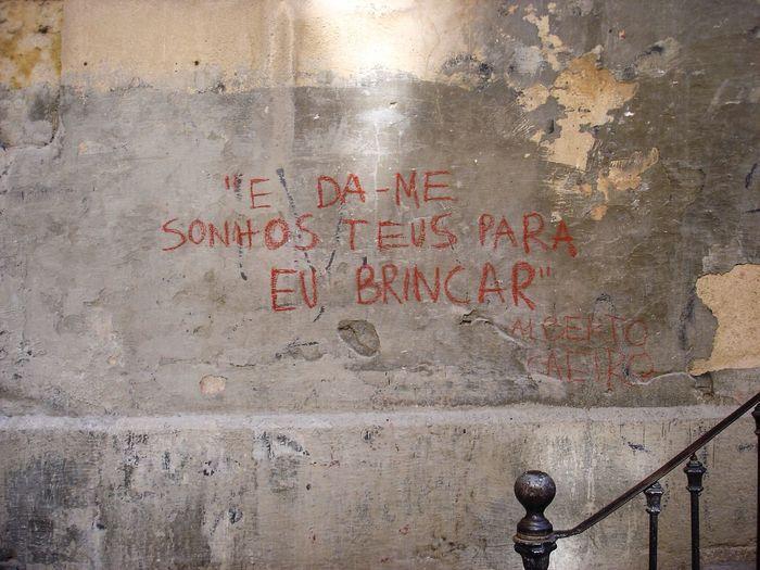 """""""e da-me sonhos teus para eu brincar"""" Alberto Caeiro Sony UrbanART Fernandopessoa"""