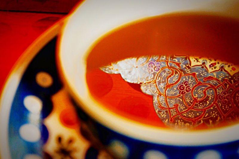 Closeup Macro Tea Cup Close Up