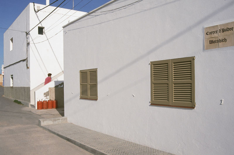 Sant Francesc Xavier, San Francisco Javier, Formentera, Balearic Islands, Spain, Analogue Photography Formentera Houses SPAIN Sant Francesc Xavier Architecture Balearic Islands Building Exterior Built Structure Day Film Photography House Outdoors Tranquil Scene Village White Whitewashed