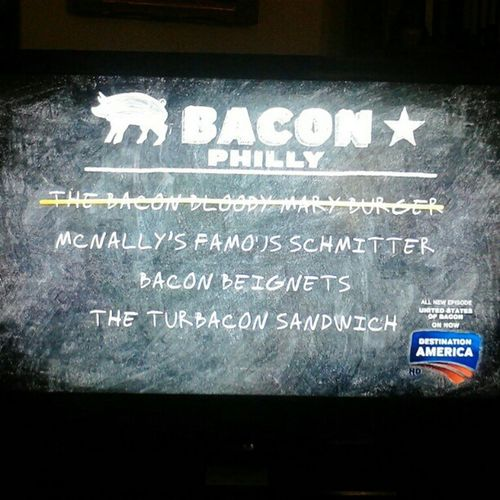 Nuff said! Bacon Unitedstatesofbacon Philly Tvshows