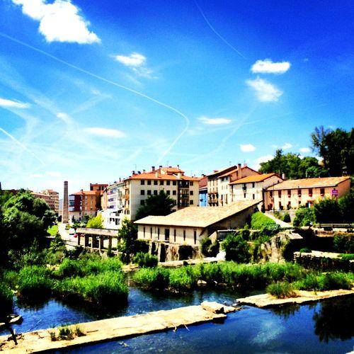 Enjoying Life Village Bluesky River Clouds And Sky Clouds BuenCamino Caminofrances CaminodeSantiago
