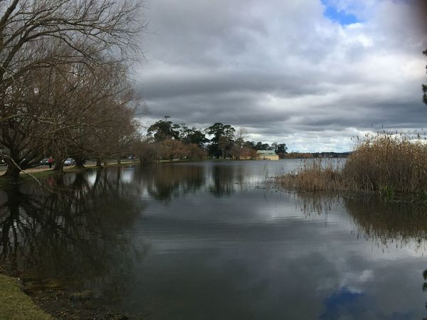 Lake Wendouree Solitude Tranquil Landscape Lake View Trees Overcast But Beautiful Reflections In The Water