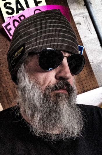 Portrait Beard Sunglasses Real People One Person Adult Beardswag Not Too Smart, Just Smart Looking Beardman It's All About Me! Beardpower Beardlife Beardedmen Beardseason Headshot Trailertrash Beardporn No Flash Bald
