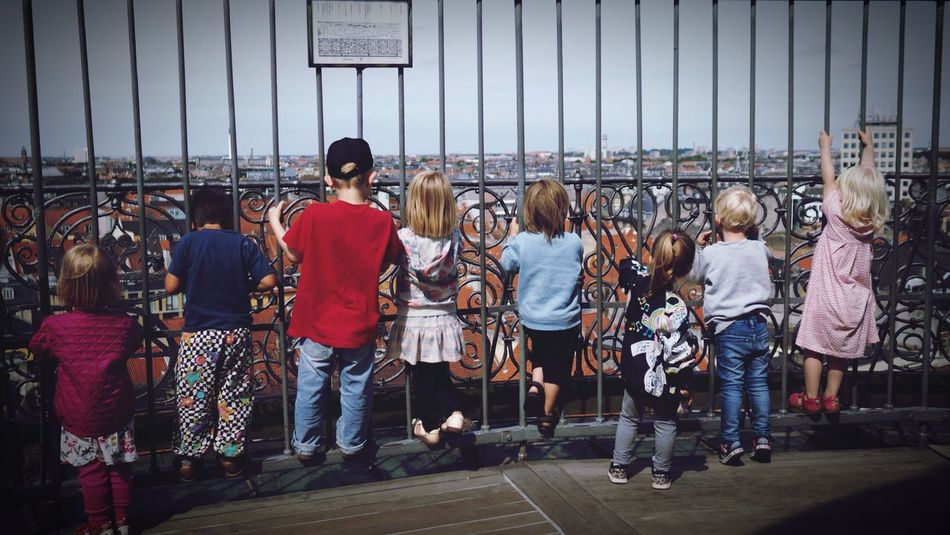 Children adventure Large Group Of People Child Full Length Girls Togetherness Real People Childhood Day Friendship Standing Outdoors People Adult Copenhagen Round Tower Destination EyeEm Best Shots This Is Family