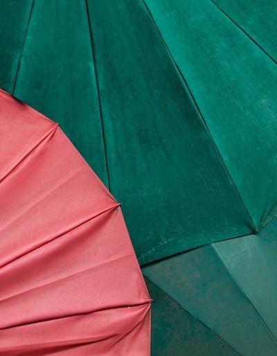 High angle view of umbrella on floor