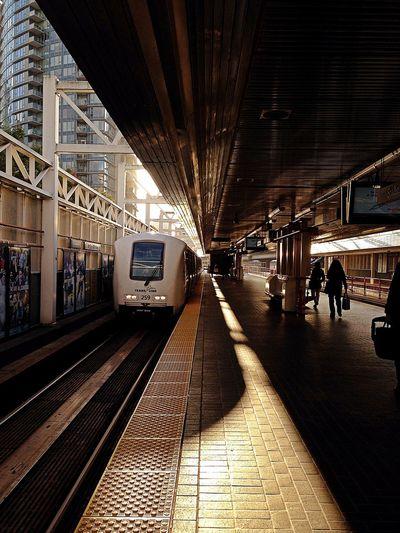 Stadium-Chinatown Skytrain Vancouver Leading Lines Transit Transportation Train