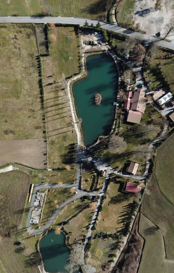 Aerial Photo Santa Maria Del Molise Molise Water Aerial View Built Structure Architecture Day Building Exterior High Angle View Nature