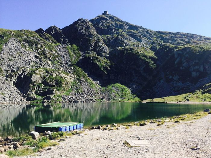 Idyllic view of lake and mountain