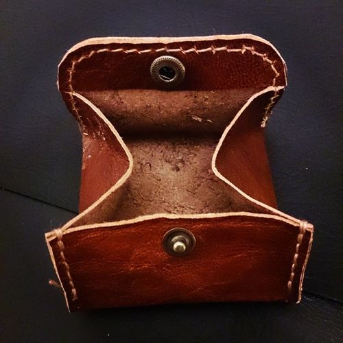 Coin purse 2 Craft Leather Handmade Coinpurse
