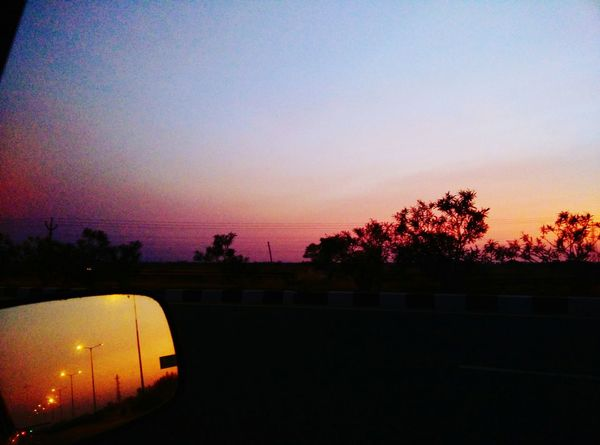 The Places I've Been Today Mobilephotography Clouds And Sky Sun And Light Sunset Through The Mirror Mirroring Mirriorshot