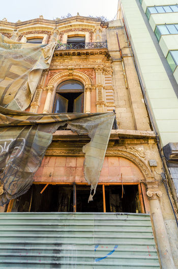 Old building undergoing restoration in Mexico City America Architecture Buildings Capital Federal Center City Df Distrito Downtown Federal Historic Landmark Latin Metropolitana National Old Outdoors Restoration Square Street Symbol Tourism Travel Urban Vacation