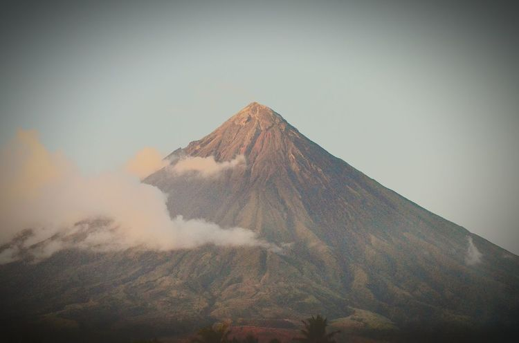 Mt VolcanoMayon Fog Mountain Outdoors Day Nature No People Sky Beauty In Nature